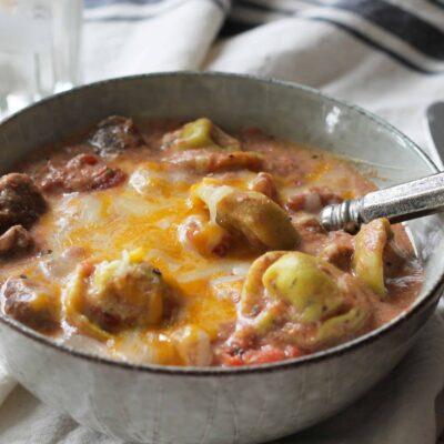 Cheesy Beef Tortellini
