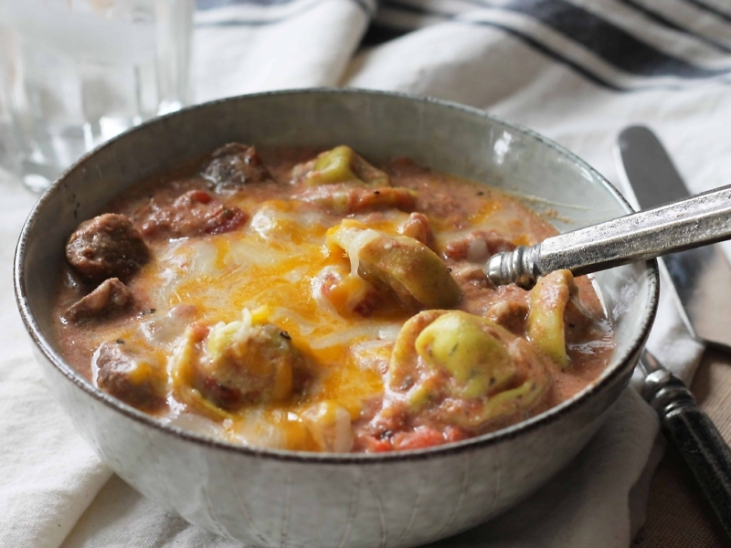 cheesy beefy tortellini