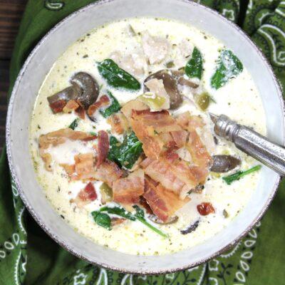 Keto Instant Pot Chicken Bacon Chowder