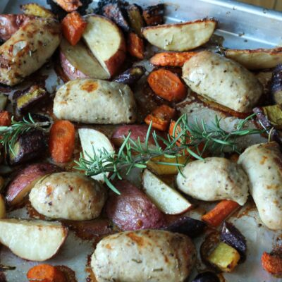 Sheet Pan Italian Sausage