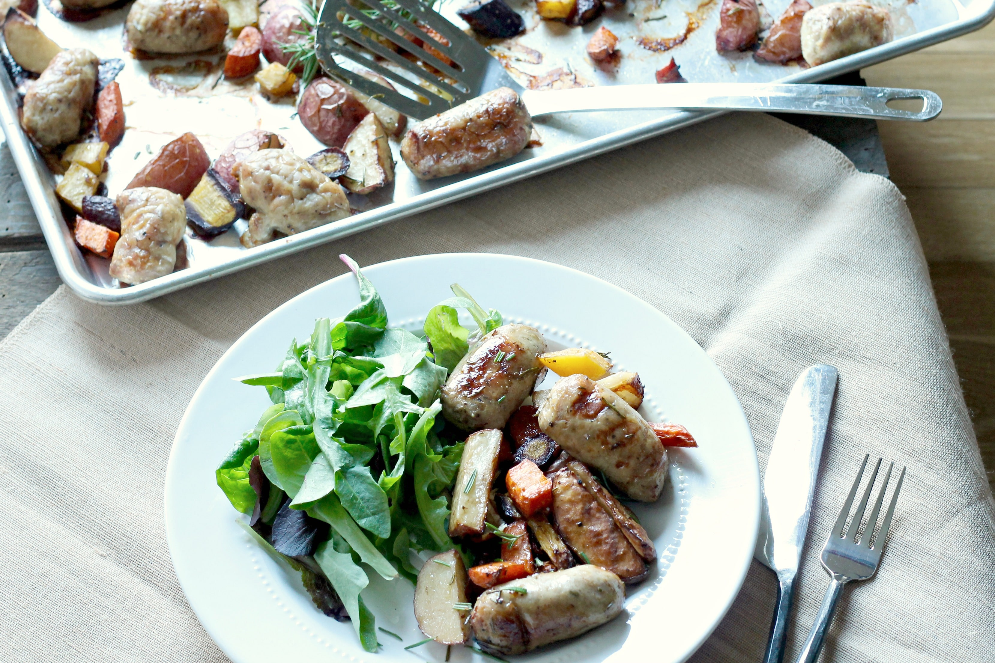 Italian Sausage Dinner on One Pan