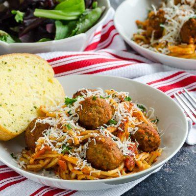 Make Ahead Spaghetti and Meatball Casserole – 10 YR Bonus
