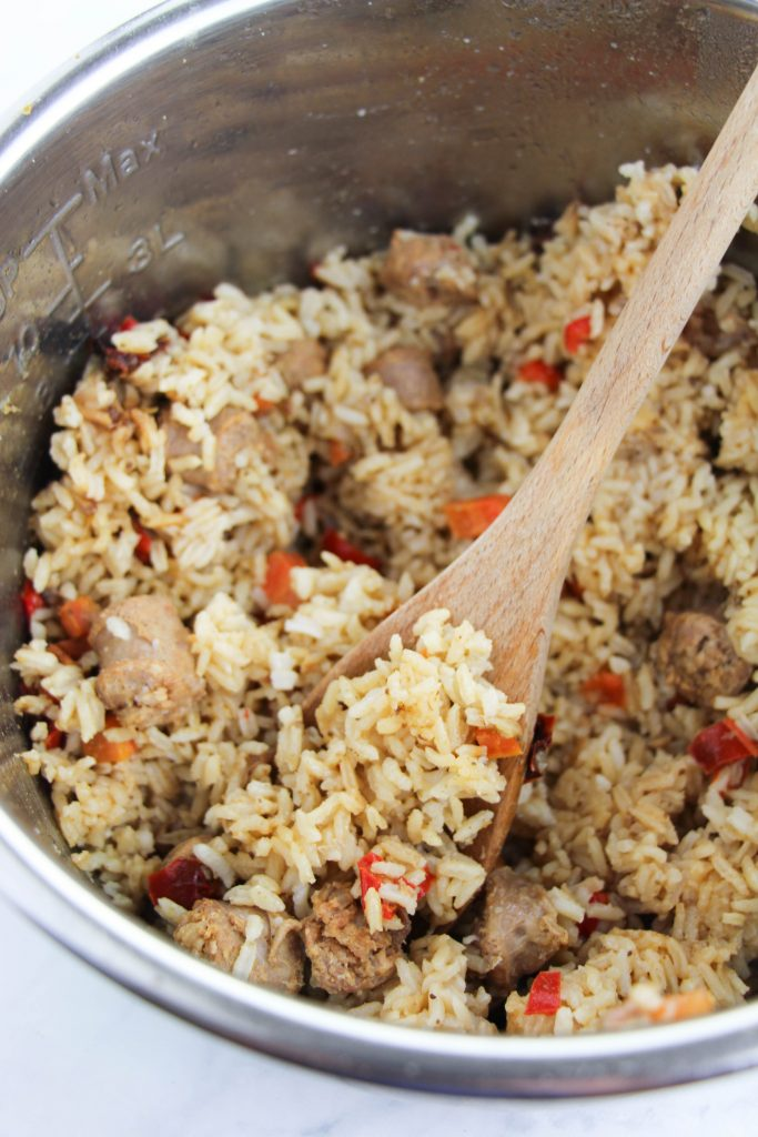 Instant Pot Cajun Sausage and Rice