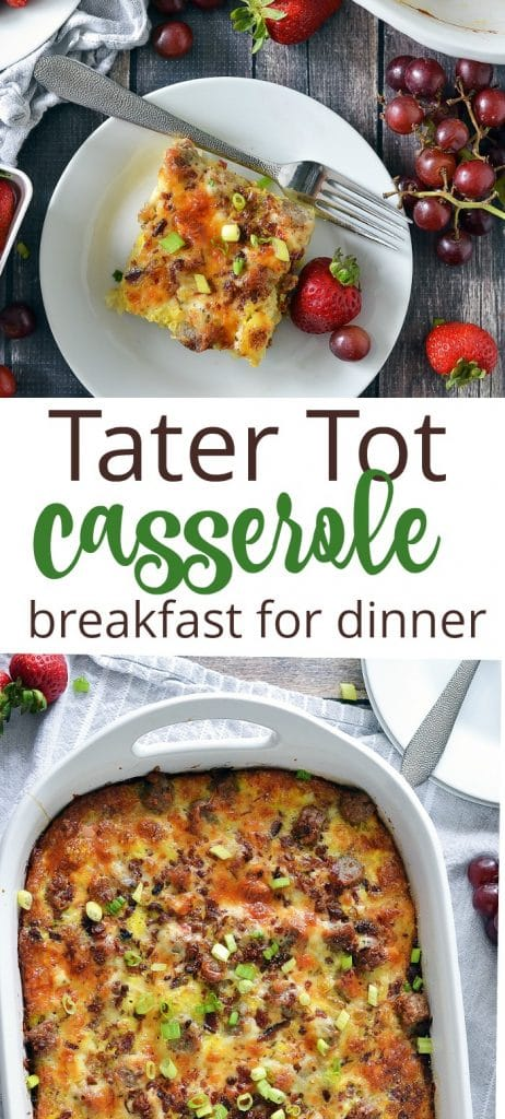 Prep ahead breakfast for dinner tater tot casserole is the most requested breakfast in our house.
