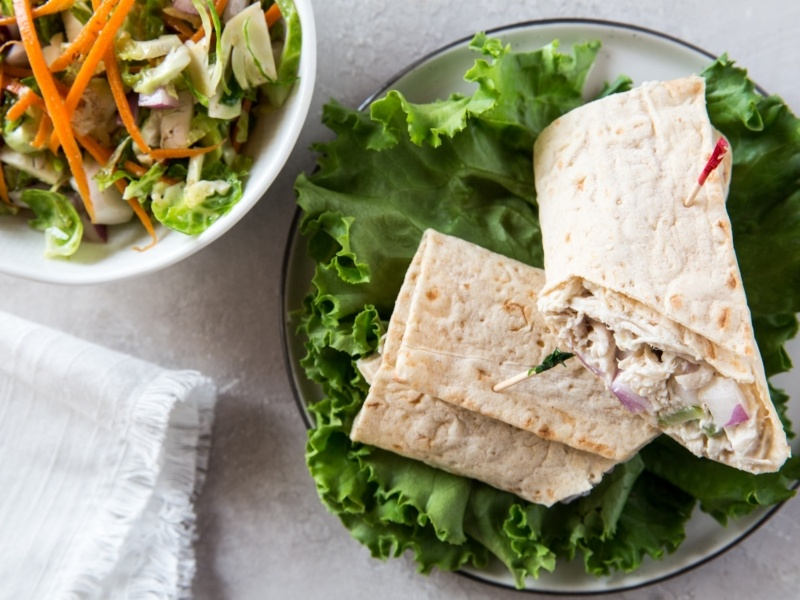low carb chicken wraps