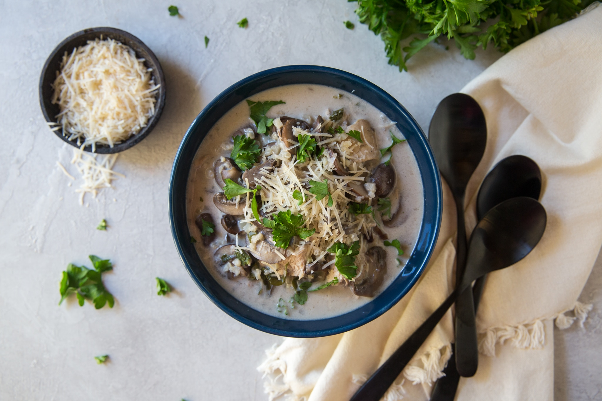 cream of mushroom chicken stew