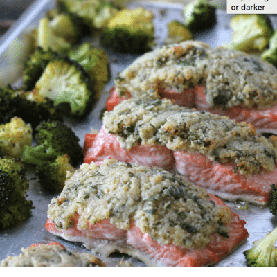 Parmesan Crusted Salmon – Easy Sheet Pan Meal!