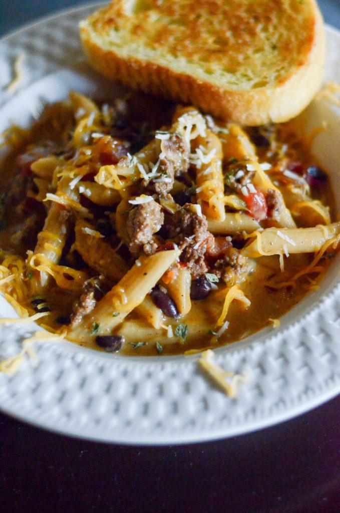 One Pot Southwestern Beef Pasta Skillet