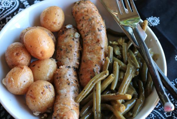 Easy one pot Crockpot Italian Sausage