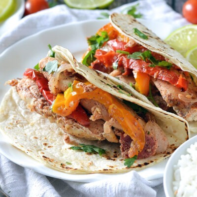 Slow Cooked Chicken Fajitas