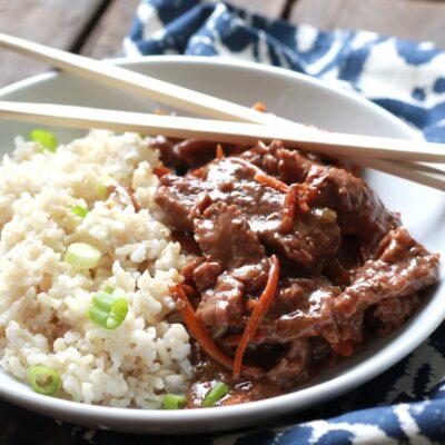 Slow Cooked Mongolian Beef – B