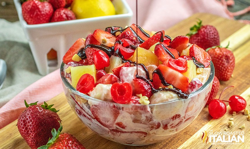 Banana Split Cheesecake Salad