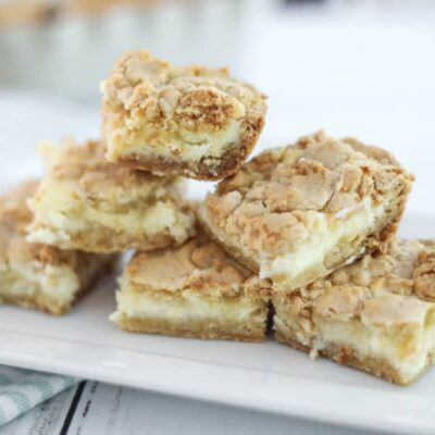 Freezable Sugar Cookie Cheesecake Bars