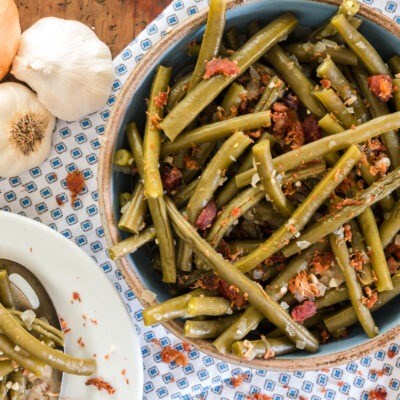 Slow Cooked Green Beans with Bacon