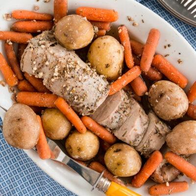 Slow Cooker Pork Tenderloin and Potatoes – CE