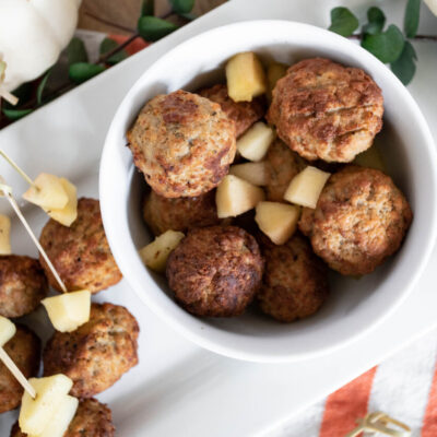 Slow Cooked Apple Cider Meatballs