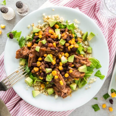 Slow Cooked Beef Burrito Bowls – B