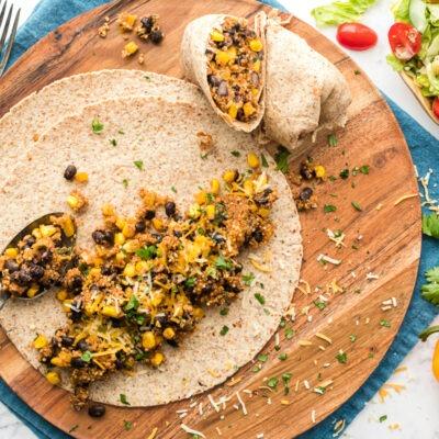 Slow Cooker Black Bean and Quinoa Burritos – CE